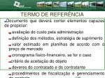 termo de refer ncia