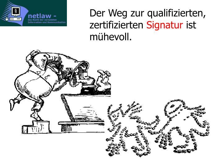 Der Weg zur qualifizierten, zertifizierten