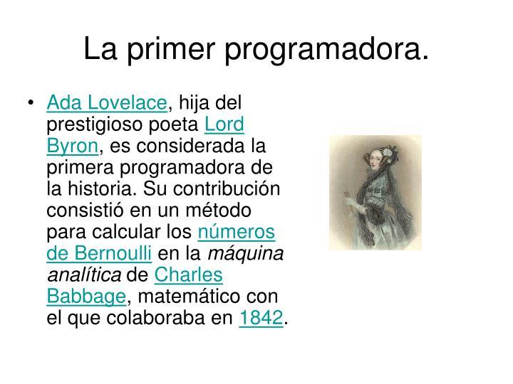 La primer programadora.