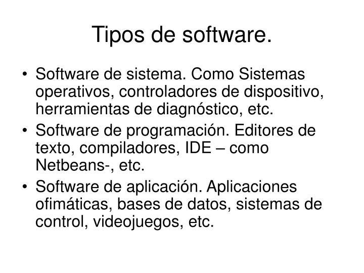 Tipos de software.