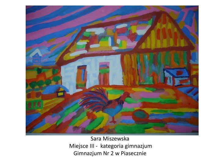 Sara Miszewska