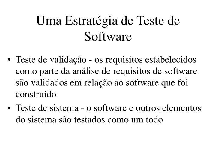 Uma Estratégia de Teste de Software