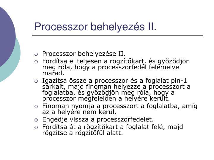 Processzor behelyezés