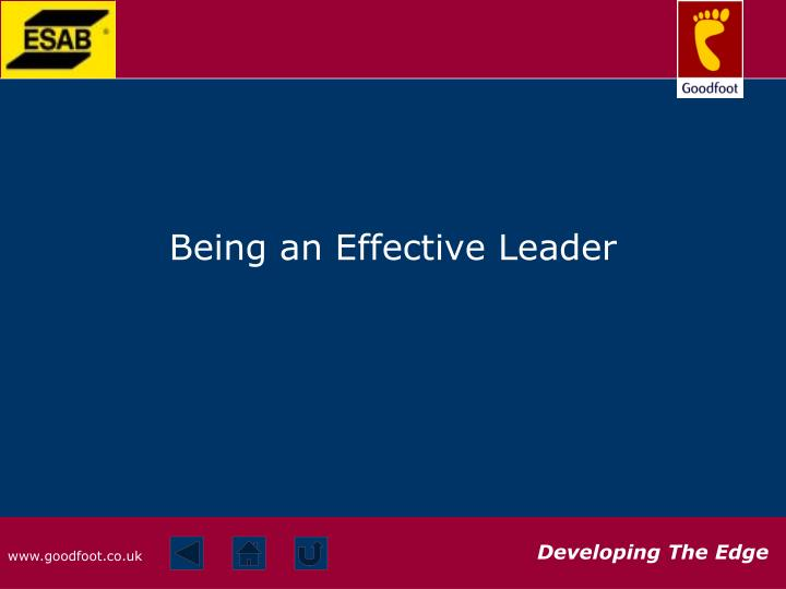 effective leadership outline being an effective Effective leadership is a key element in the success of a group and virtually  anyone can  handling group discussions | handling difficult conversations |  summary  to be effective as a leader, it's important to know your group in terms  of.