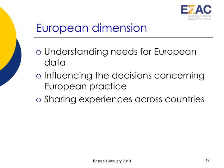 European dimension