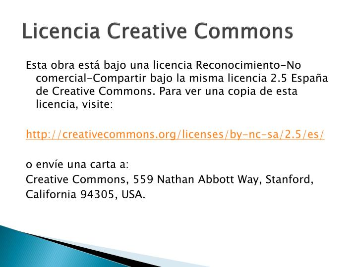 Licencia creative commons
