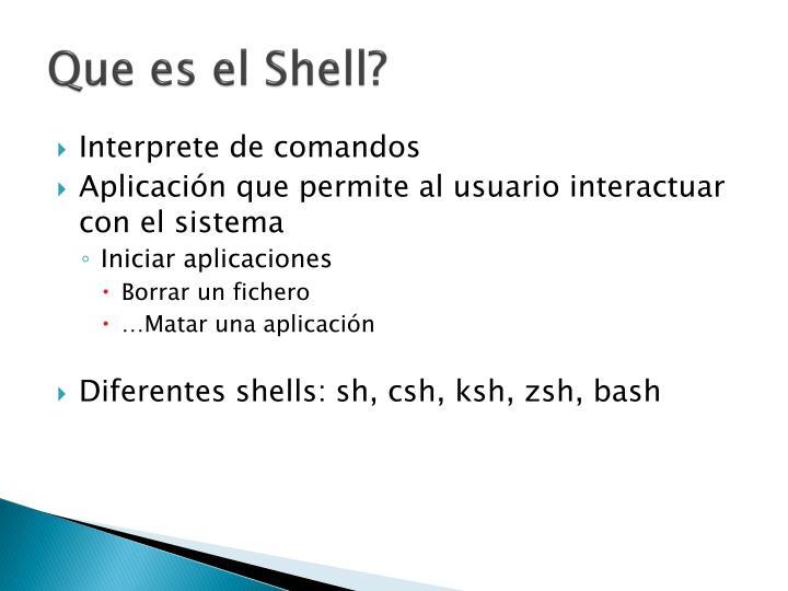Que es el Shell?