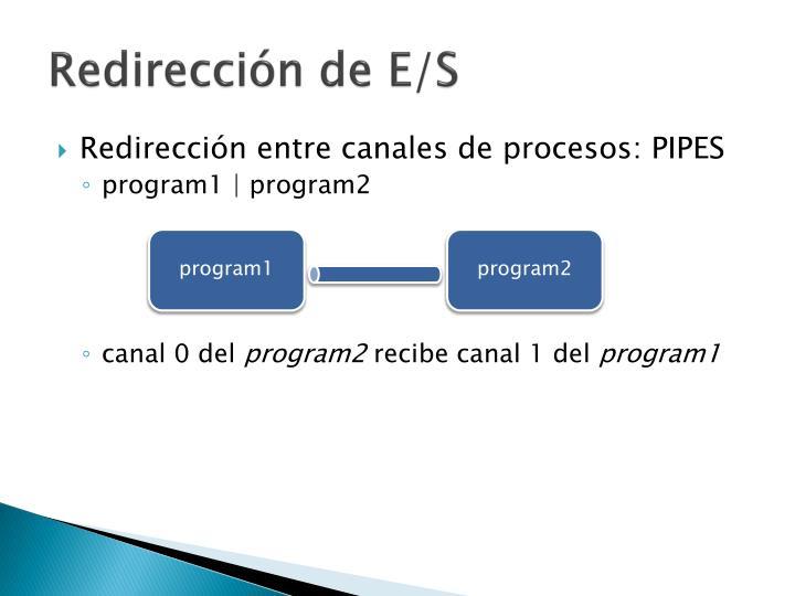 Redirección de E/S
