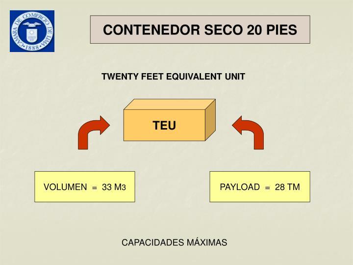 CONTENEDOR SECO 20 PIES