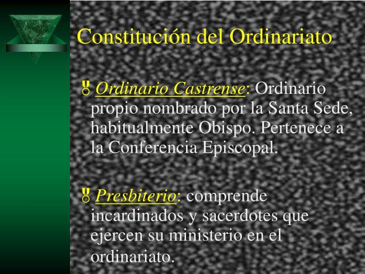 Constitución del Ordinariato