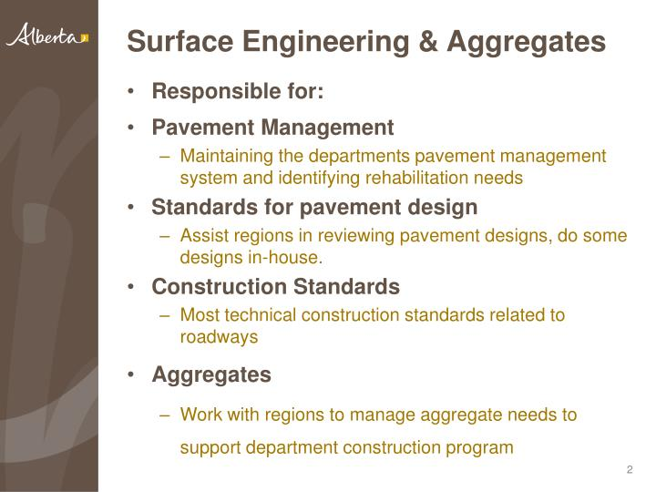 Surface Engineering & Aggregates