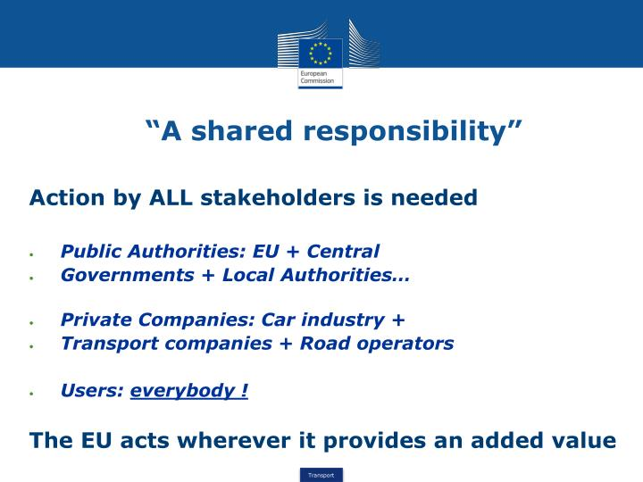 """""""A shared responsibility"""""""