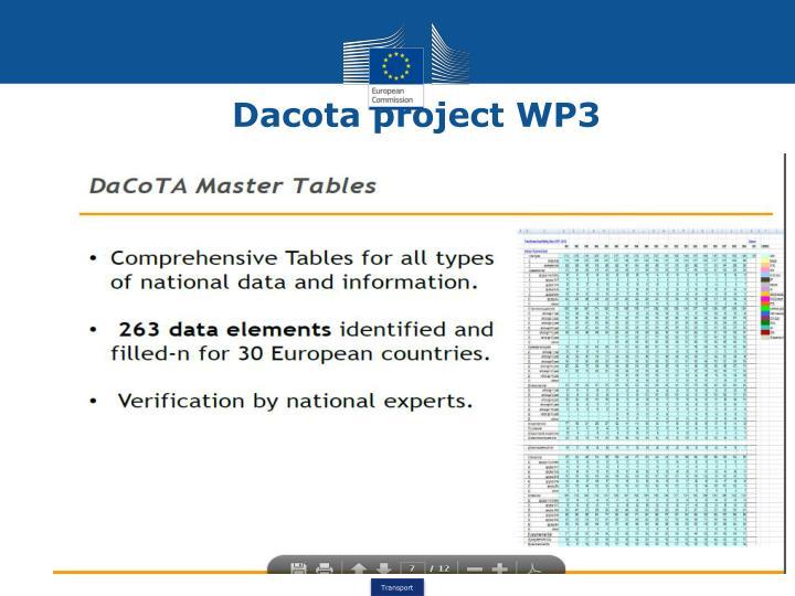 Dacota project WP3