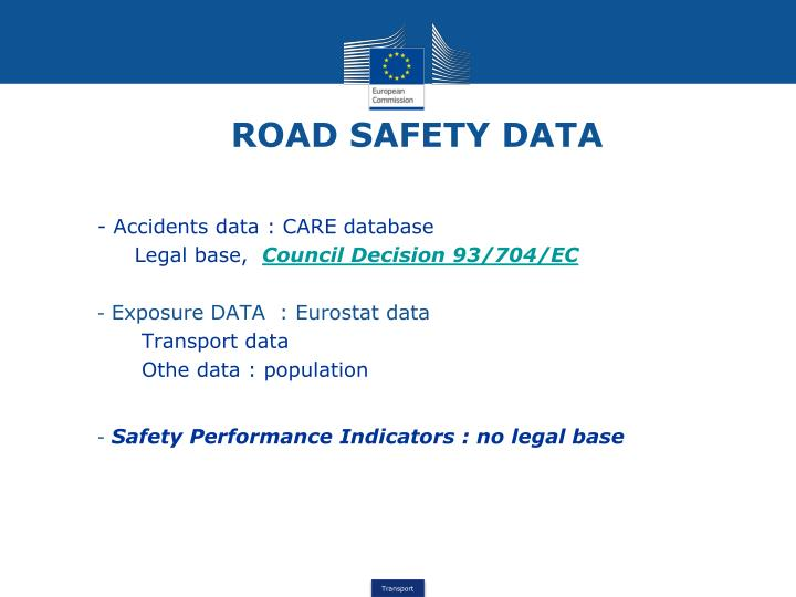 ROAD SAFETY DATA