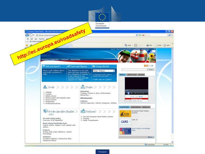 http://ec.europa.eu/roadsafety