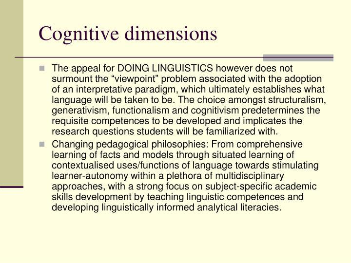 Cognitive dimensions