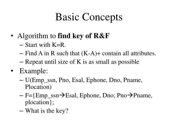 Basic Concepts