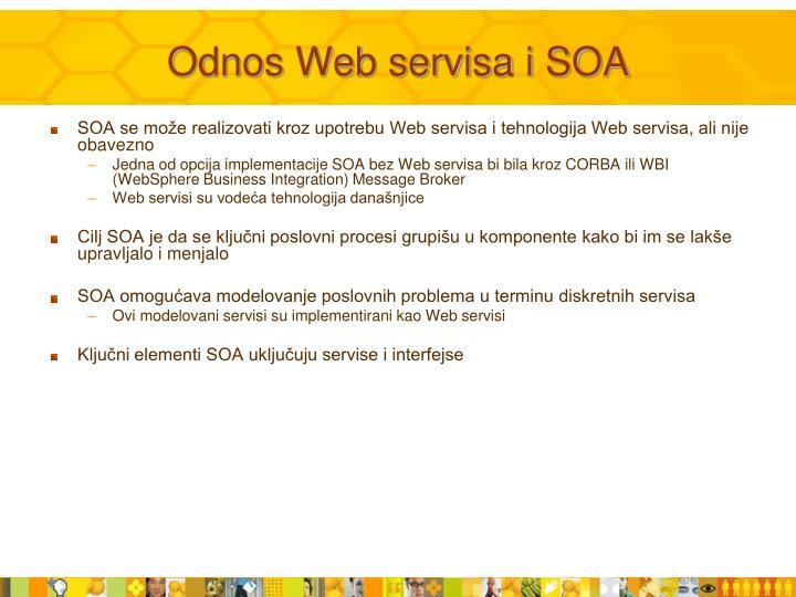 Odnos Web servisa i SOA