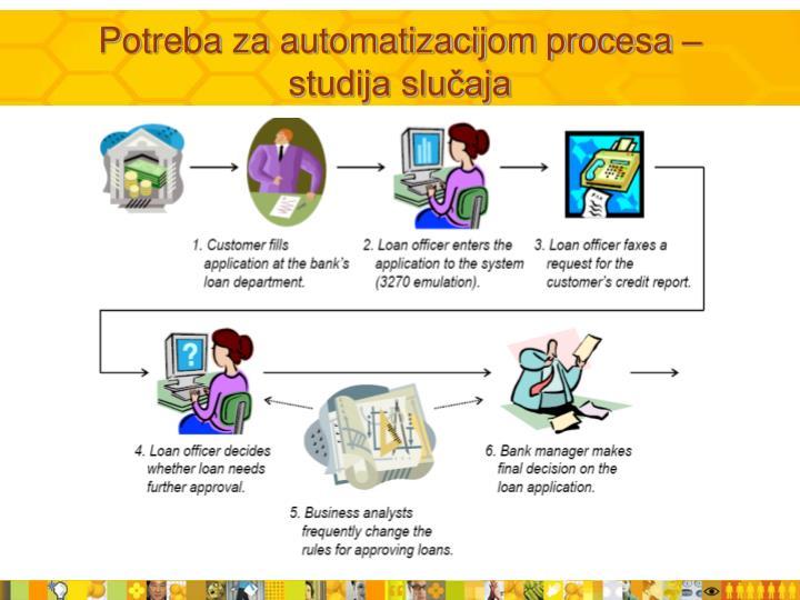 Potreba za automatizacijom procesa – studija slučaja