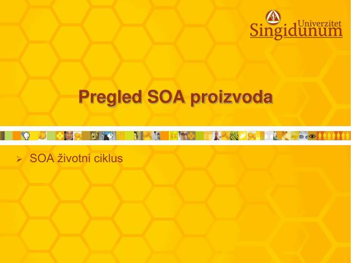 Pregled SOA proizvoda