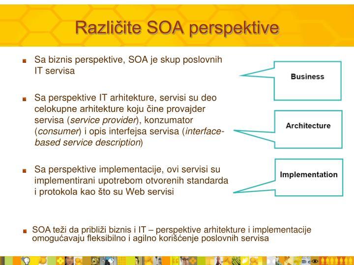 Različite SOA perspektive
