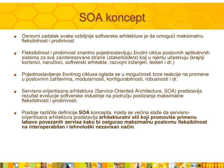 SOA koncept