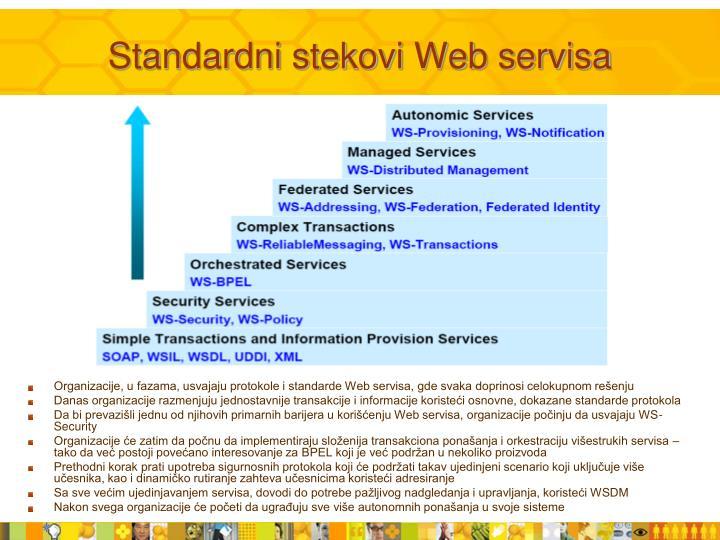 Standardni stekovi Web servisa