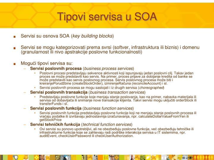 Tipovi servisa u SOA