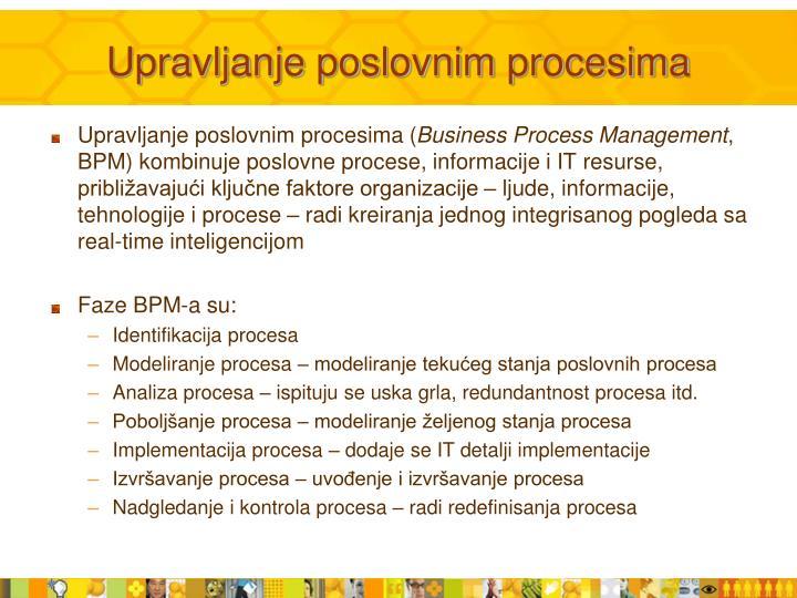 Upravljanje poslovnim procesima