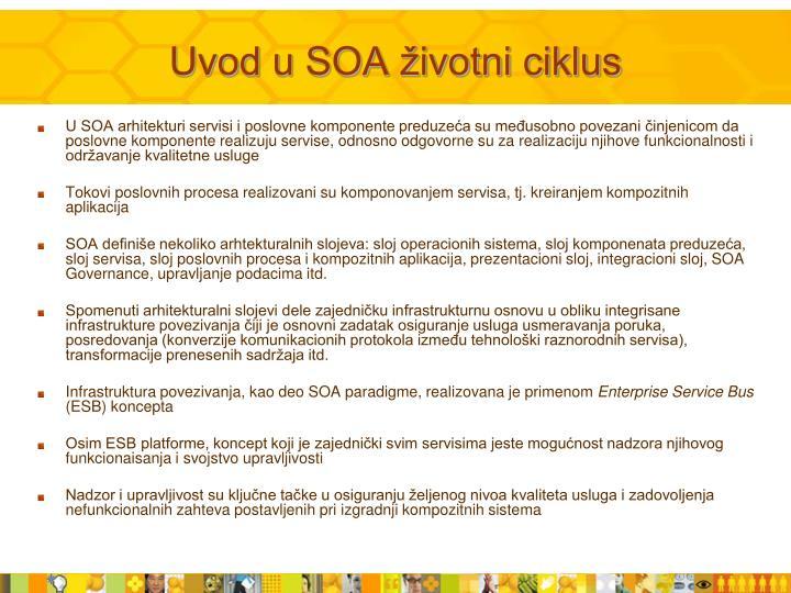 Uvod u SOA životni ciklus