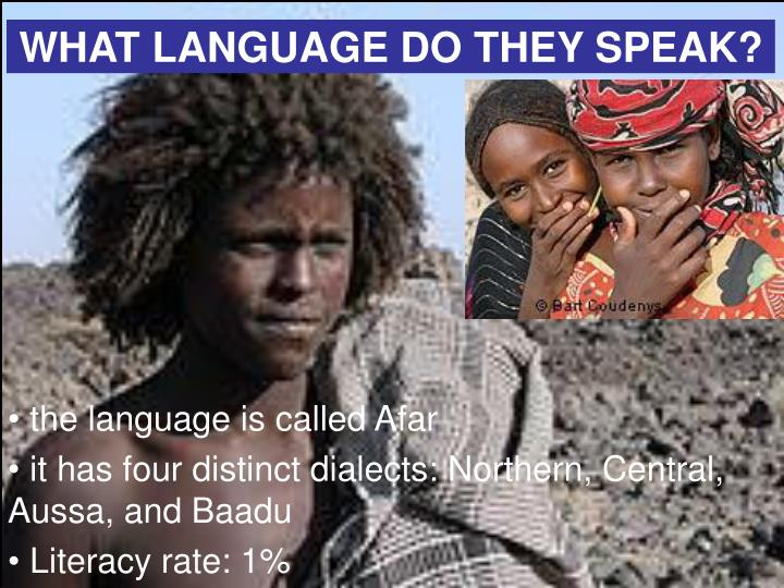 WHAT LANGUAGE DO THEY SPEAK?