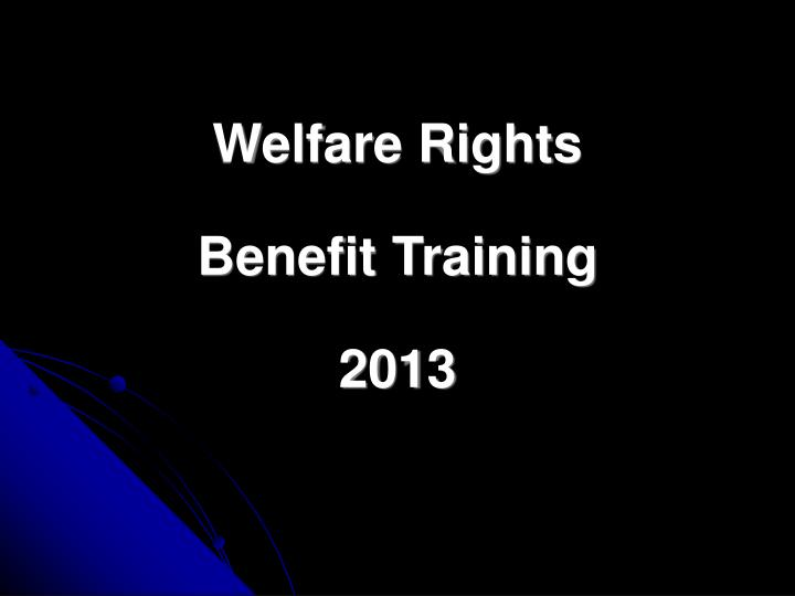 Welfare Rights