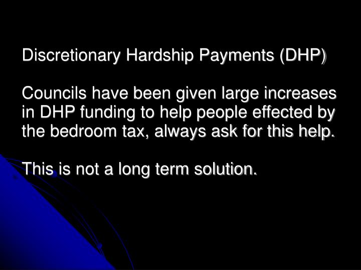 Discretionary Hardship Payments (DHP)