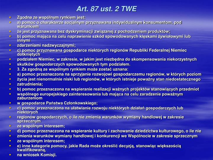 Art. 87 ust. 2 TWE
