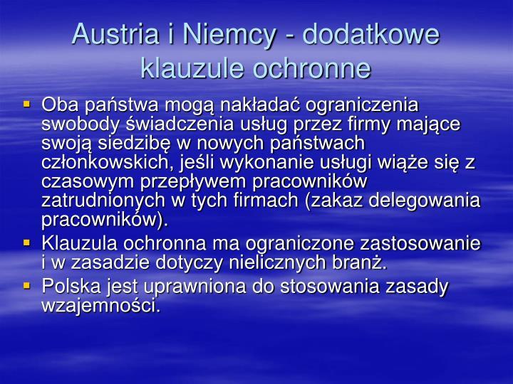 Austria i Niemcy - dodatkowe klauzule ochronne