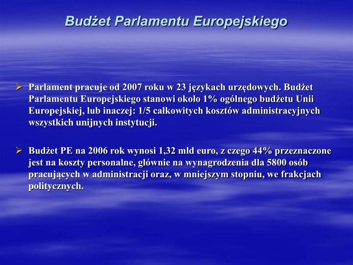 Budżet Parlamentu Europejskiego