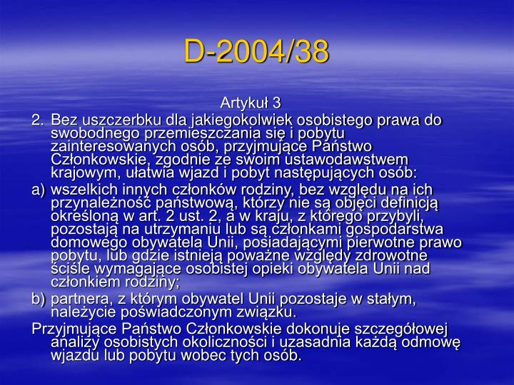 D-2004/38