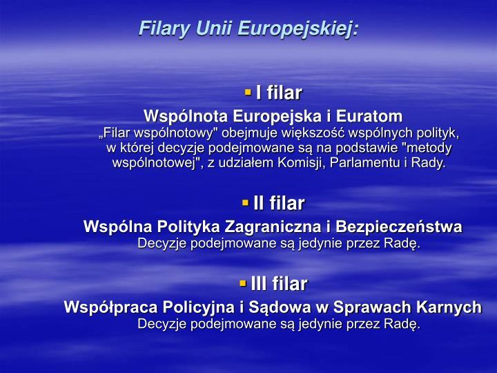 Filary Unii Europejskiej: