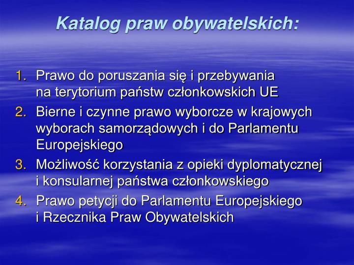 Katalog praw obywatelskich: