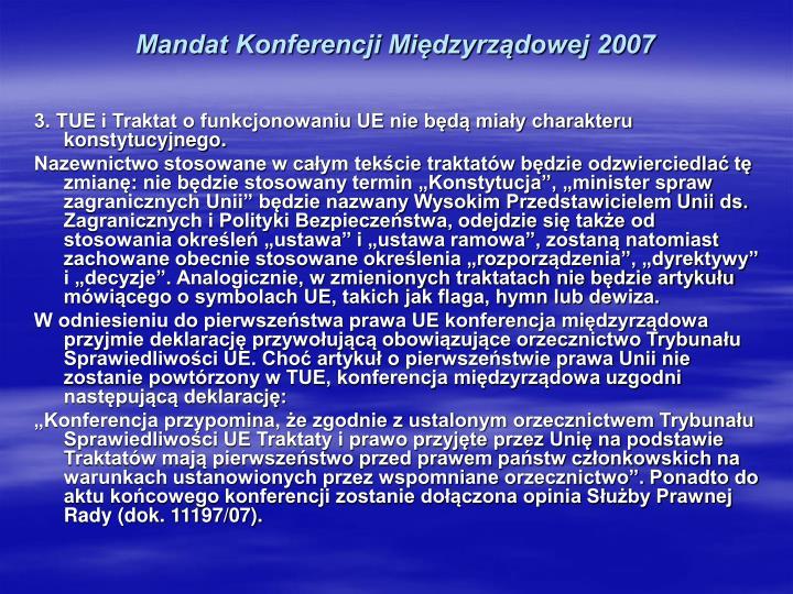 Mandat Konferencji Międzyrządowej 2007