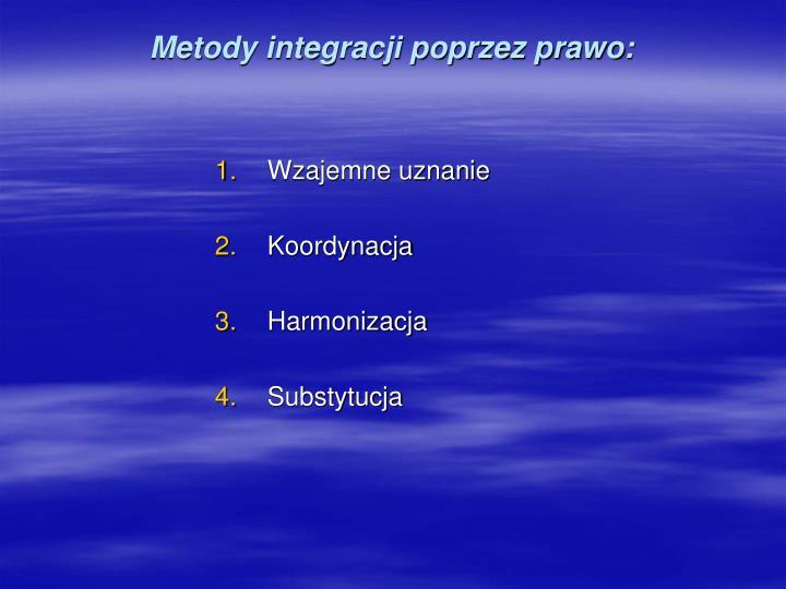 Metody integracji poprzez prawo:
