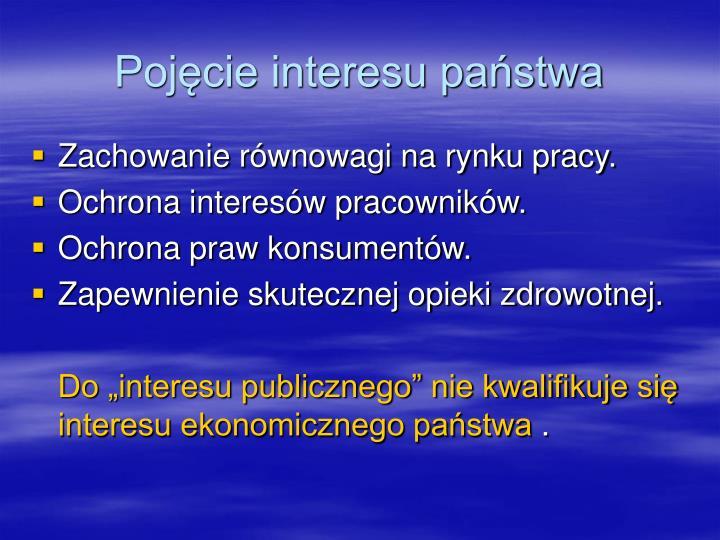 Pojęcie interesu państwa