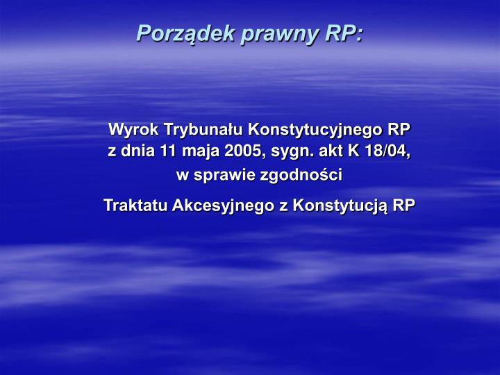 Porządek prawny RP: