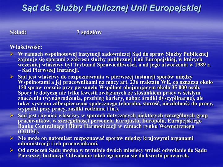Sąd ds. Służby Publicznej Unii Europejskiej