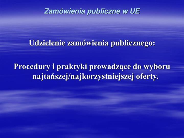 Zamówienia publiczne w UE