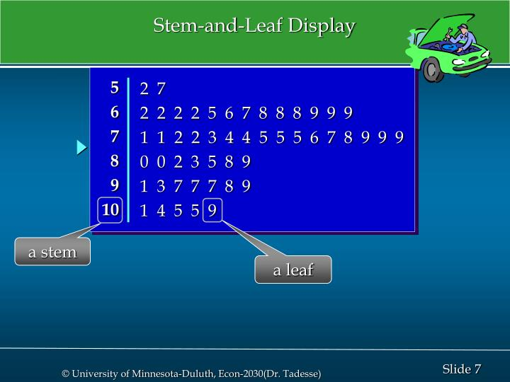 Stem-and-Leaf Display