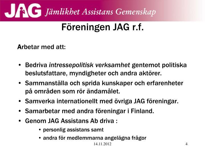 Föreningen JAG r.f.