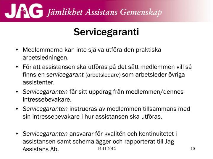 Servicegaranti
