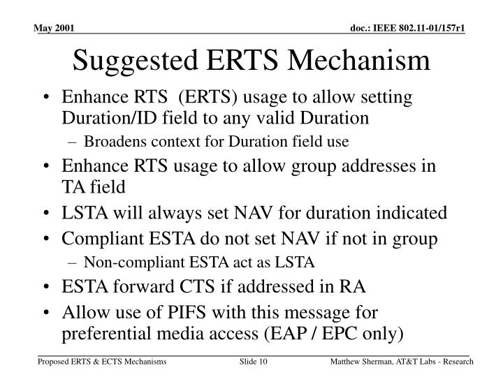 Suggested ERTS Mechanism