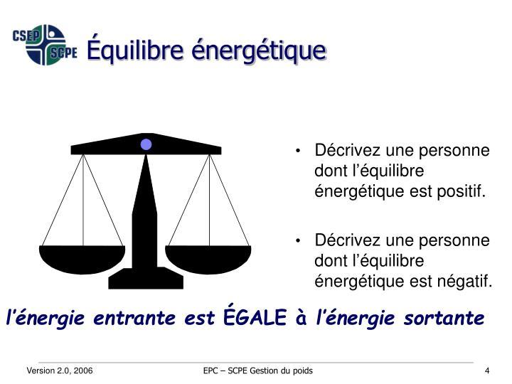 Équilibre énergétique